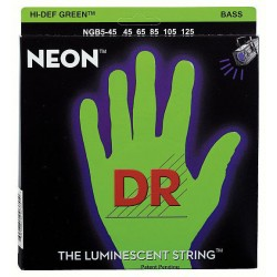 Corzi chitara bas DR Strings NGB-45-5 Strings Set Neon GN
